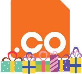 .co domain birthday logo