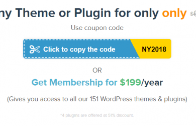 MyThemeShop New Year Sale - Up to 70% Off almost Themes & Plugins for just $19