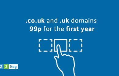 123 reg promo codes - Just 99p on .CO.UK and .UK domains